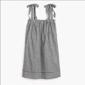 Jcrew Black And White gingham dress